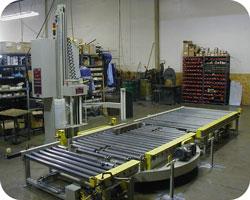 Fully Automatic Horizontal Conveyorized Stretch Wrapper